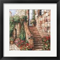 Framed Stone Stairway Petites B
