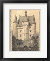 Framed Bordeaux Chateau III