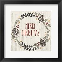 Rustic Christmas II Framed Print