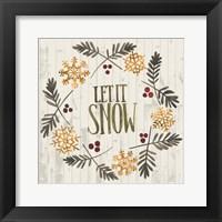 Rustic Christmas VI Framed Print