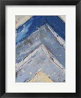 Framed Blue Zag I