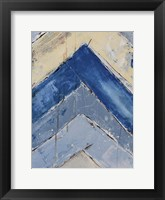 Framed Blue Zag II
