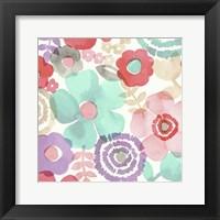 Framed Ocean Shores Floral I