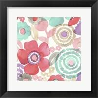 Framed Ocean Shores Floral II