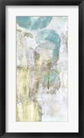 Citron and Teal Orbs II Framed Print