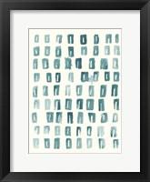 Blue Batik Motif II Framed Print