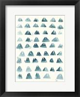Blue Batik Motif III Framed Print