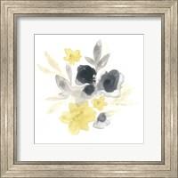 Framed Citron Bouquet I
