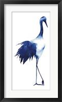 Framed Ink Drop Crane I