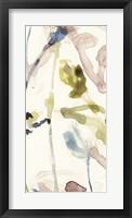 Flower Drip Triptych III Framed Print