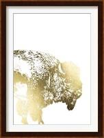 Framed Gold Foil Buffalo