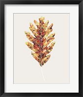 Framed Fall Mosaic Leaf I