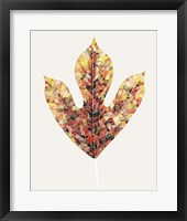 Framed Fall Mosaic Leaf II