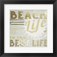 Framed Gold & Beachy II