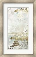 Framed Metallic Flower Garden I