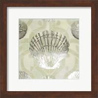 Framed Metallic Shell Tiles I