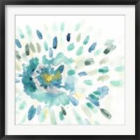 Framed Starburst Floral I