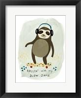 Hipster Sloth II Framed Print