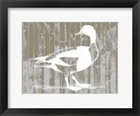 Woodgrain Fowl I Framed Print
