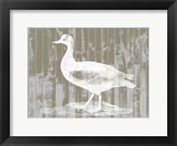 Woodgrain Fowl II Framed Print