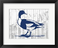 Woodgrain Fowl III Framed Print