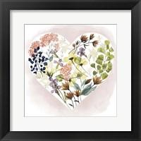 Love Floral I Framed Print