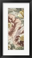 Framed Earthtone Floral Panel I
