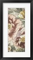 Framed Earthtone Floral Panel I