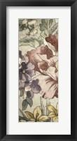 Framed Earthtone Floral Panel II