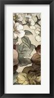 Framed Earthtone Floral Panel III