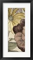 Framed Earthtone Floral Panel IV