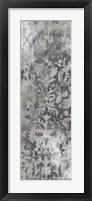 Weathered Damask Panel I Framed Print