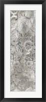 Weathered Damask Panel III Framed Print