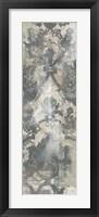 Weathered Damask Panel IV Framed Print