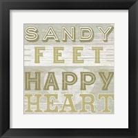 A Little Beachy III Framed Print