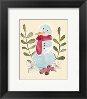 Framed Snowman Cut-out I