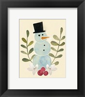 Framed Snowman Cut-out II