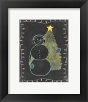 Chalkboard Snowman II Framed Print