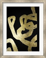 Framed Gold Foil Symbiotic I on Black