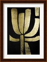 Framed Gold Foil Symbiotic II on Black