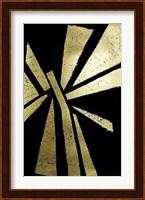 Framed Gold Foil Symbiotic IV on Black
