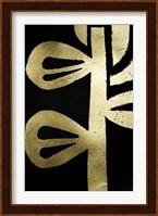 Framed Gold Foil Symbiotic V on Black