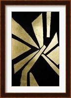 Framed Gold Foil Symbiotic VI on Black