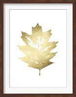 Framed Gold Foil Leaf I