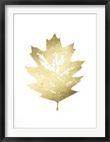 Framed Gold Foil Leaf I