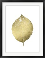 Framed Gold Foil Leaf III