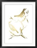 Framed Gold Foil Birds I