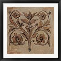 Framed Pablo Segovia - Decorative Scroll I