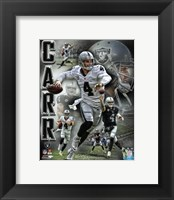 Framed Derek Carr 2016 Portrait Plus