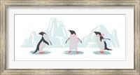 Framed Minimalist Penguin Trio, Girls